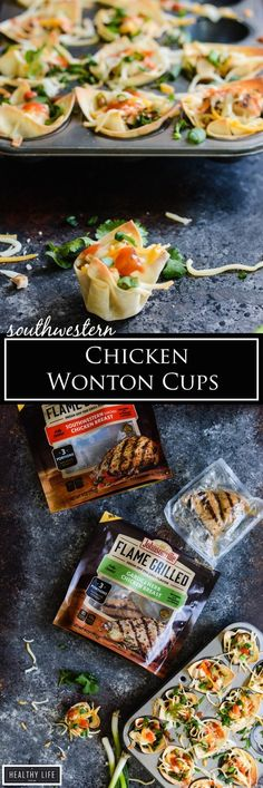 Southwestern Chicken Wonton Cups make the perfect appetizer or after school snack for the kiddos or after work snack for you | APPETIZER RECIPE | CHICKEN RECIPE | AFTER SCHOOL SNACK RECIPE | HEALTHY RECIPE