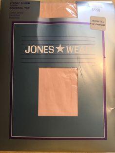 Vintage Jones Wear Med/Tall Pink Champagne Control Top Sandalfoot Pantyhose  | eBay