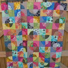 Drunkard's Path Quiltalong quilt top | Flickr - Photo Sharing!