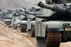 US Army Abrams Tanks in Souith Korea