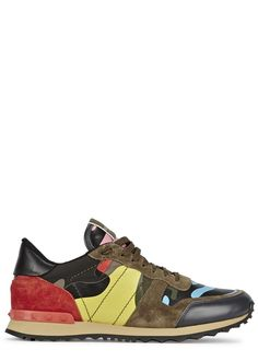 Valentino multicoloured leather trainers