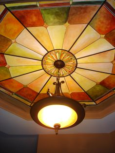 Faux Stained glass ceilings