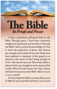 The Bible: Its Proofs and Power