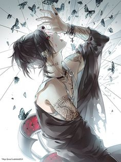 Beautiful art of Uta from Tokyo Ghoul