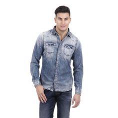 Denim M Diesel Mens Shirt 00SD24 0664A 01