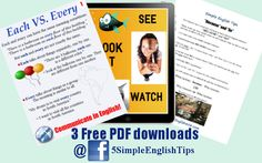 In case you missed any of my PDF giveaways from last year... Download here: https://www.facebook.com/5simpleenglishtips