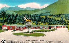 vintage motel postcards   Wonderland Motel, Flagstaff ARizona Vintage Postcard