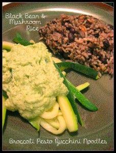 Black Bean & Mushroom Rice
