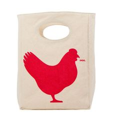Rooster Lunch Bag, $16, now featured on Fab.