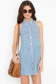 sleeveless jean dress