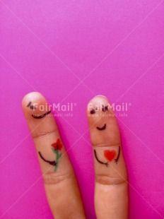 Fingers in Love   @FairMail - Fair Trade Cards - PJAE-0020