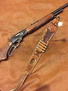 Buffalo Brand Leather Buffalo Brand, Lever Action Rifles, Rifle Sling, Firearms, Shotguns, Holsters, Rigs, Winchester 1894, Personalized Items