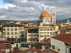 The dome of the Cathedral of Florence from the roof of Hotel Croce di Malta.
