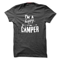 I'm Happy Camper Camping T Shirts, Hoodies. Check price ==► https://www.sunfrog.com/Camping/Im-Happy-Camper--Camping-Shirts.html?41382 $22