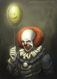 I saw the IT (tv-movie) yesterday and I had a great nostalgia attack and I wanna do some fan art of Pennywise Clown, I remember when I was a child, this clown dont let me sleep for weeks! Penny Wise Clown, Gruseliger Clown, Creepy Clown, Clown Pics, Scary Mask, The Crow, Horror Icons, Horror Art, Clown Horror