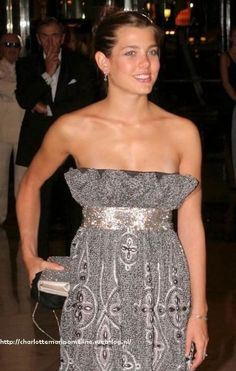 Charlotte Casiraghi. What a terrible dress for her! :(