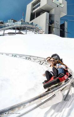 Winter coaster in Switzerland! – My World Switzerland In Winter, Switzerland Vacation, Adelboden, Places To Travel, Places To See, Travel Destinations, Zermatt, Winter Travel, Fun Travel