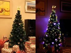 7 Ft Fiber Optic Christmas Tree With Angel Tree Topper - http://www.christmasshack.com/christmas-trees/fiber-optic-christmas-trees/7-ft-fiber-optic-christmas-tree-with-angel-tree-topper/