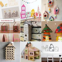 We are SO taken with houses, as a craft, and perhaps it's because it was one of the first things we learnt to draw as children, so here we have collected a few rather lovelyHouse themed crafts just for you!…
