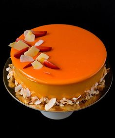 coconut passion fruit entremet