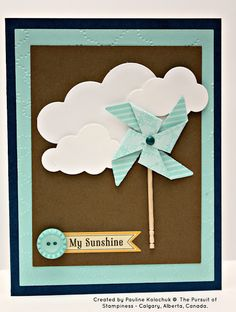 Pinwheel card dOUBLE SIDED PAPER