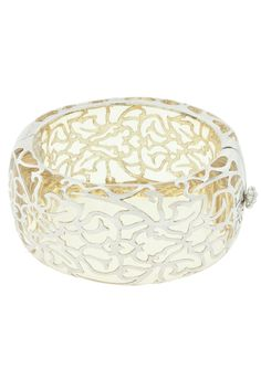 Andrew Hamilton Crawford Damask Cuff In Clear And Silver--I. Want. THIS.