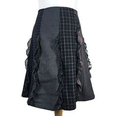 """M/&S Per Una Size 16 Regular Pleated A-Line Spotty Skirt with Tie Belt 30/"""""""