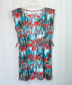 Girls CATO Multi Watercolor Print Elastic Waist Cap Sleeve Knit Top Size L 12-14 #Cato #Everyday