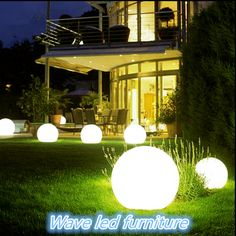 Color changing led ball