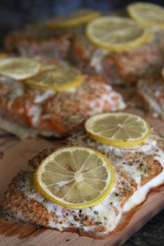 Lemon & Dill Cedar Plank Salmon - perfect for those summer BBQs! Cedar Plank Salmon, Cedar Planks, Main Dishes, Lemon, Laundry, Food, Summer, Main Course Dishes, Laundry Room