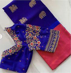 Blouse Designs High Neck, Best Blouse Designs, Hand Work Blouse Design, Simple Blouse Designs, Stylish Blouse Design, Bridal Blouse Designs, Designer Blouse Patterns, Siri, Saree Blouse