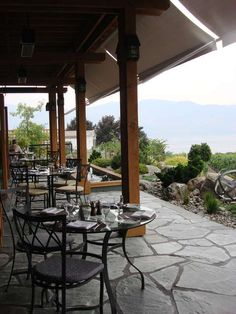 """RECOMMENDED: Old Vine Restaurant, Quail's Gate Winery, Kelowna, British Columbia, Canada. """"Enjoy the wild British Columbia salmon or twice-baked goat cheese and rosemary souffle of the Old Vine restaurant at Quail's Gate winery - as you look out over the water and sip a glass of very good Canadian wine"""