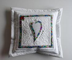 decorative pillow with heart applique design by Kajura cushion love by Kajura on Etsy Applique Designs, Decorative Pillows, Cushions, Colours, Throw Pillows, Heart, Fabrics, Handmade, Etsy
