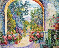 Jeanne Selmersheim-Desgranges, Garden at La Hune, Saint-Tropez, 1909.  Privileged to see this at the Indianapolis Museum of Art Summer 2014.