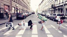 Hip hop dance down the street #dancer #dancers #crew