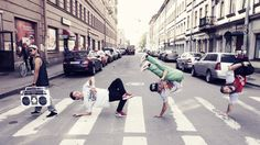 Hip hop dance down the street #dancer #dancers #crew