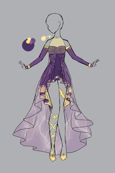 Outfit adoptable 21 closed by scarlett knight on for Zeichenschule modedesign