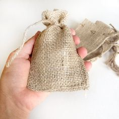 12 burlap bags  jute bags  3x5 inches small burlap bags  by kaalen