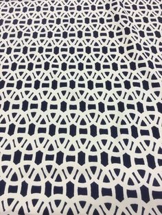 "HARLEQUIN SCION FABRIC DESIGN ""Lace"" By The METRES Power Blue And Cream in Crafts, Sewing & Fabric, Fabric 