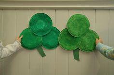 Paper plate shamrocks