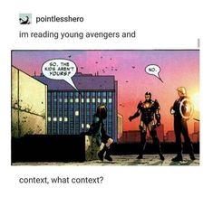 Avengers Of Justice Avengers Memes, Marvel Jokes, Marvel Funny, Young Avengers, Marvel Avengers, Spideypool, Superfamily, Marvel Dc Comics, Marvel Characters