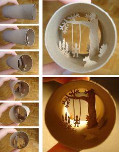 Miniature Art on Toilet Paper Rolls by Anastasia Elias