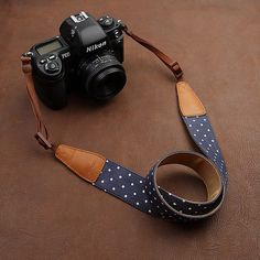 CUTE Camera Strap  ! Leather DSLR Camera Strap for Nikon by camerasbagstraps, $32.99 #ElementsWishList