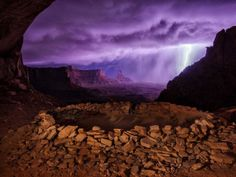 thunderstorm at False Kiva, Utah, was the second-place winner of the 2013 National Geographic Traveler Photo Contest.