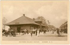 The Southern Railway Station in Hickory, NC ca. 1920 - as a passenger train depot