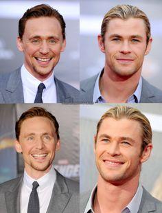 tom hiddleston, chris hemsworth.- Loki & Thor