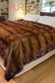 f0dbb6fb0c Brown Mink Fur Blanket True luxury is now attainable... The desert with its