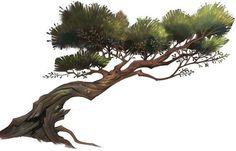This wind blown tree reminds me of a bonsai tree Landscape Concept, Fantasy Landscape, Art And Illustration, Game Art, Art Environnemental, Art Et Nature, Bonsai Art, Game Concept Art, Matte Painting