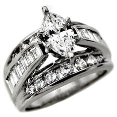2.30ct Marquise Diamond Engagement Ring in 14k « Holiday Adds