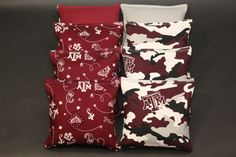 TEXAS A&M Aggies Cornhole Bags ACA Regulation Camo Corn Hole Bean Bags would be a great gift to your Aggie couple on their wedding day!  Follow thehowdyweddingguide on Instagran for more Aggie wedding shares! Corn Hole Bean Bags, Cornhole, Couple Gifts, Christmas Stockings, Camo, Groom, Great Gifts, Wedding Day, Texas